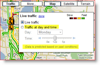 Google Adds Traffic Conditions for Arterials on Google Maps