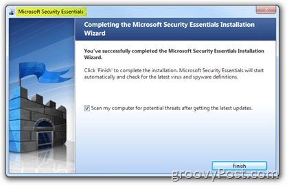 Microsoft Security Essentials Install