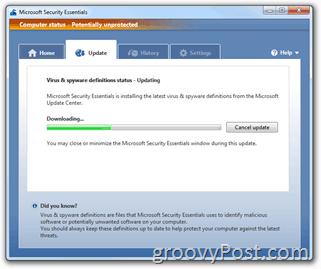 Microsoft Security Essentials Signature Update