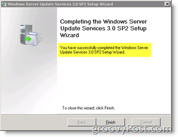 upgrade from WSUS 3.0 SP1 to SP2