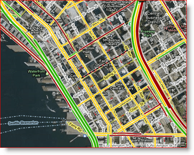 Google Maps Live Arterial Map of Seattle