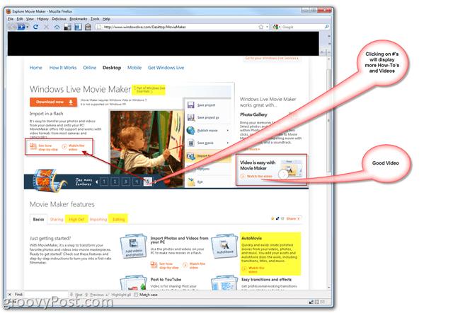 Microsoft Windows Live Movie Maker - How-To Make Home Movies - Live Essentials Site