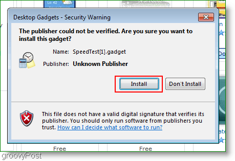 Install the gadget if you want to use it with windows 7