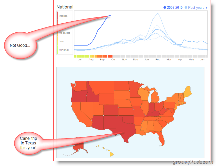 Explore Google Flu Trends In More Countries GroovyNews - Flu in the us map