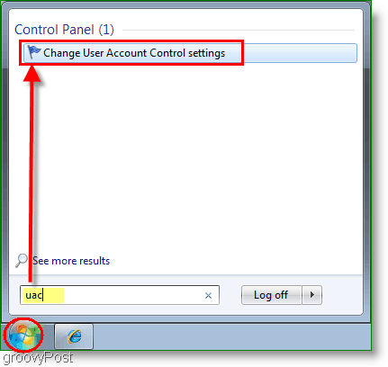Screenshot - Open the Windows 7 UAC Notification GUI Tool