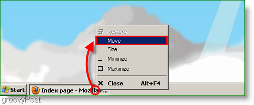 Windows XP Screenshot - Move Window