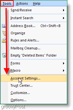 Microsoft Outlook 2007 Account Settings