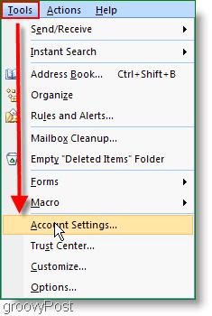 Microsoft Outlook 2007 Account Settings