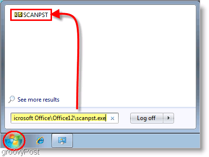 Screenshot - Outlook 2007 SCANPST Repair Tool Launch