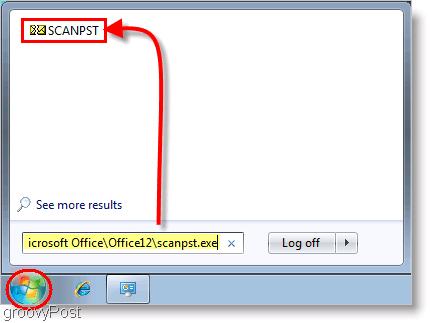 Screenshot - Outlook 2007 SCANPST Repair Tool Launch
