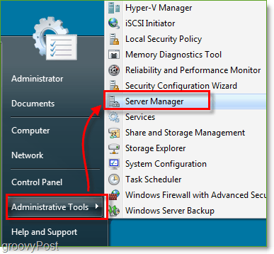 Screenshot - Windows Server 2008 Launch Server Manager