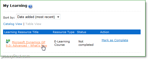 My Learning, classes from microsoft that are both paid and free to help you learn Microsoft Software