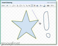 use the polyline tool to draw in google docs and make cool shapes