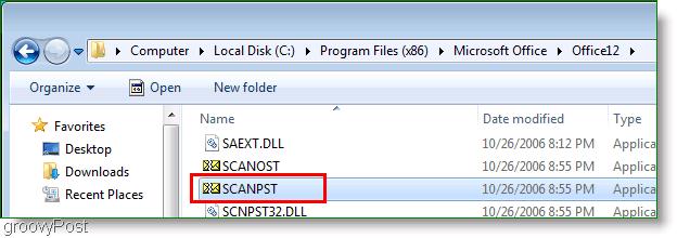Screenshot - Outlook 2007 ScanPST