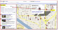 Screenshot : Google Maps Real Estate Listing Map of Fremont Seattle