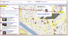 Screenshot : Google Maps Real Estate Listing Map of Fremont Seattle