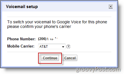 Screenshot - Enable Google Voice on non-google number