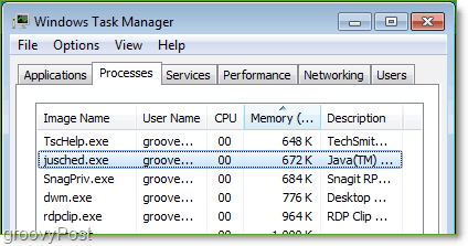 Screenshot: Windows 7 Task Manager
