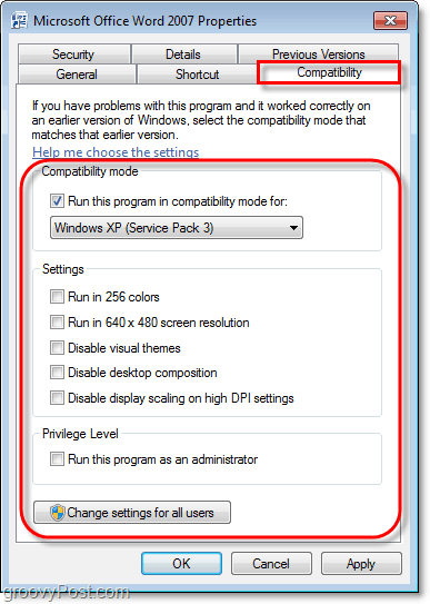 how to view the compatibility information for a windows 7 program