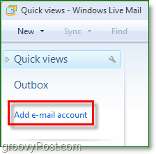 add email account to windows live mail
