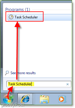 Screenshot: Windows 7 Launch Task Scheduler
