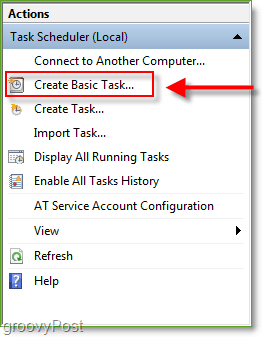 Screenshot: Windows 7 Task Scheduler Create Basic Task