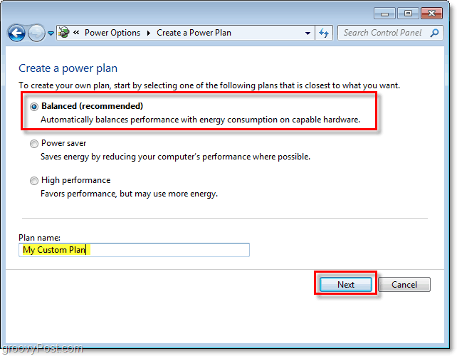 optionally you can create a custom windows 7 power plan