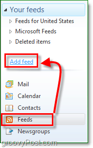 add an rss feed in windows live mail