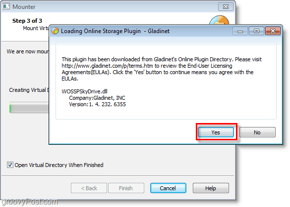 click finish and run through the installation, click yes to continue