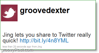 the new tweet shows up instantly with your image in the url shortener