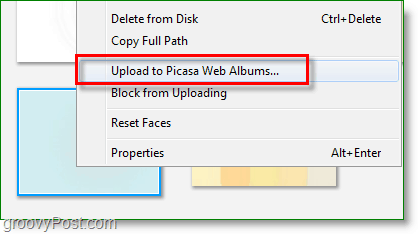 how to upload to picasa web albums