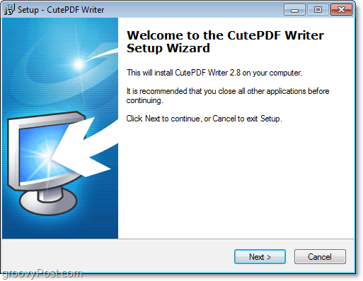 how to install cutePDF in windows 7