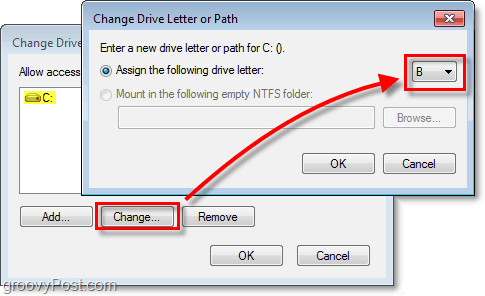 How To Change Drive Letters In Windows 7 or Vista
