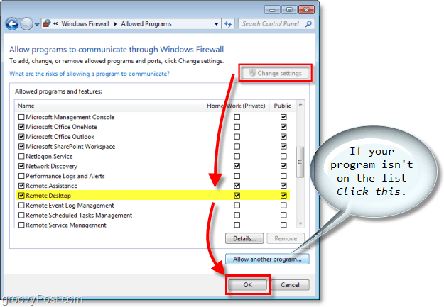 add an exception, allow a program to communicate through the windows firewall