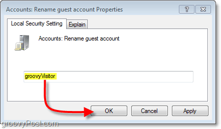 how to modify the guest account name in windowws 7