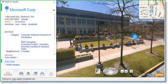 bing maps streetside view has prstine quality and lets you zoom all over