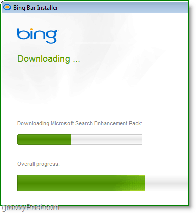 bing bar can take some time to download, this makes for great opportunity to check out more groovypost articles