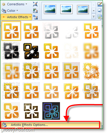 there are many special artistic effects to choose from in word 2010