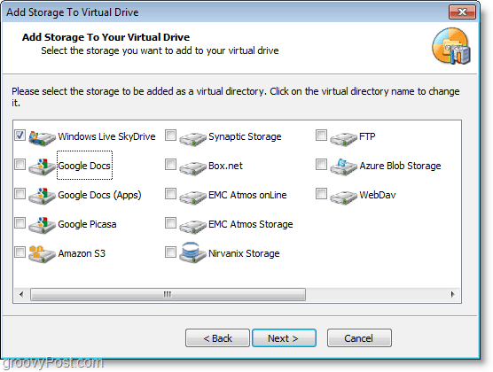 set up windows live skydrive to mount to explorer with gladinet