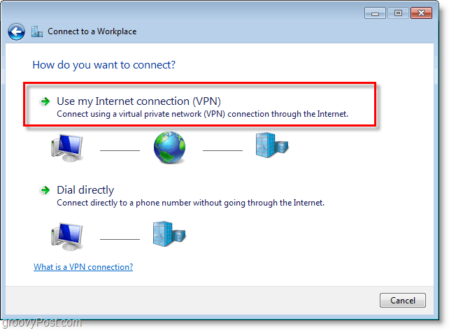 use my internet connection vpn in windows 7