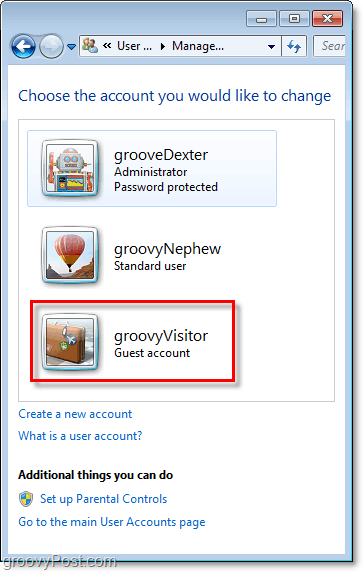 a changed guest account name in windows 7