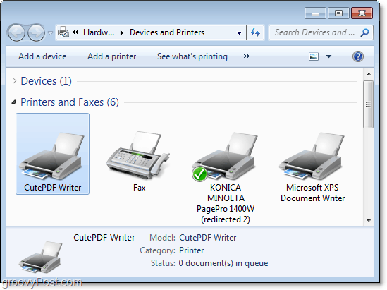 how to view the devices and printers dialog in windows 7