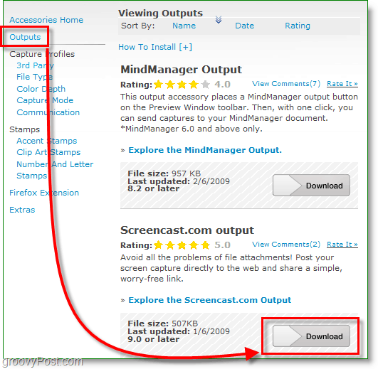 download the screencast.com output accessory