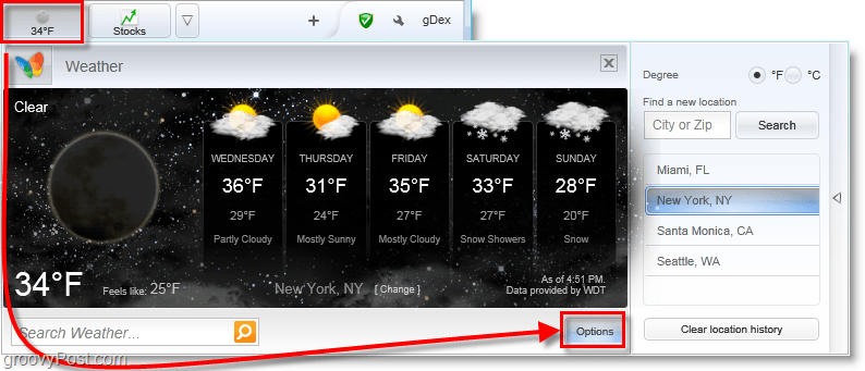 view the weather in multiple cities instantly with the bing bar