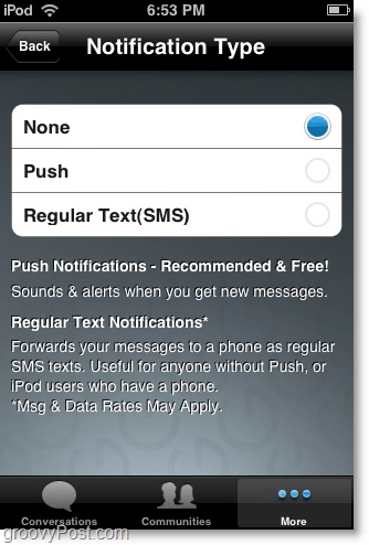 Use TextPlus to Send Free Text Messages Using An iPhone - iPod Touch