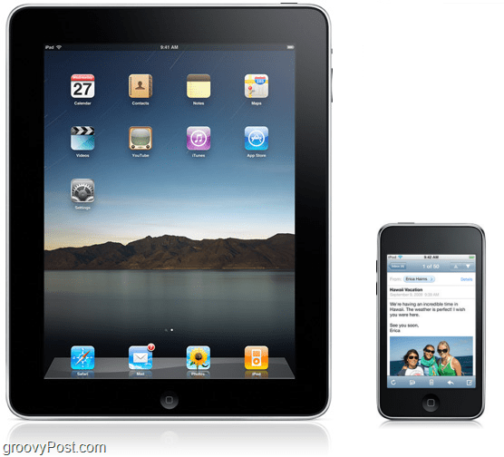 the iPad has seven times the surface area of the iPod Touch