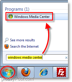 Windows 7 Media Center -open windows media center