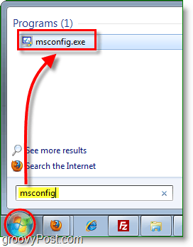 launch msconfig.exe from the start menu in windows 7