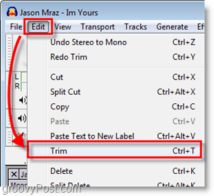 Use Trim to cut the fat off of your ringtone selection
