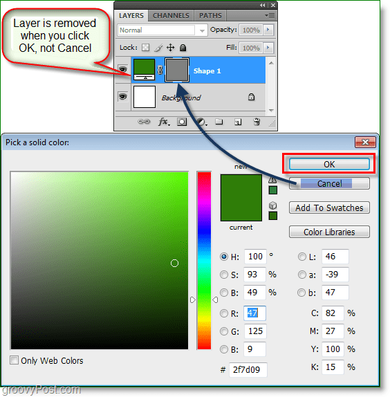 Photoshop Color Picker screenshot -woohoo it works you can now use color picker hotkeys in photoshop